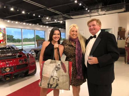 Celine Alva, Kolleen Poirier and Gary Thompson at The Auto Toy Store in Pompano Beach, FL June 2020 - Bugatti 2018