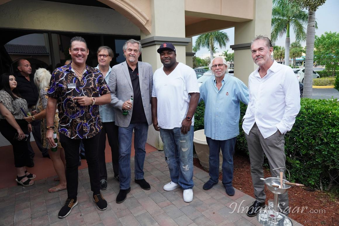 Jay Shapiro, Philanthropist J.T. Bruce, Exotic Car Maven R.J. Hunt, NFL Player and Cannabis Investor Michael Basnight, Yacht & Supercar Broker Gary Blonder, CEO Kevin McAhren       The August 2020 Event was held at Ash Bar & Restaurant in Boca Raton.  The function celebrated 11 years of Luxury Chamber events.  50 people attended and live entertainment was provided by Frank Sinatra's cousin Mr. Frankie Barbato.