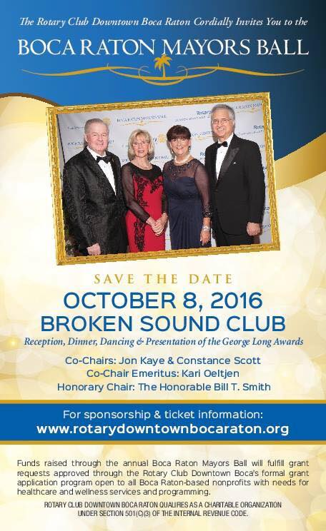 2016 date - Boca Raton Mayor's Ball