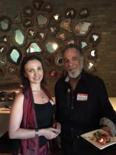 Dr. Maya Sarkisian and Yaacov Heller at LuxuryChamber.com Networking Event
