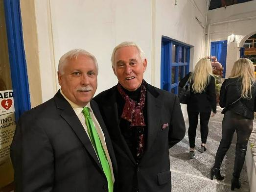 Gary Bonacci and Roger Stone at a Luxury Chamber event in Florida