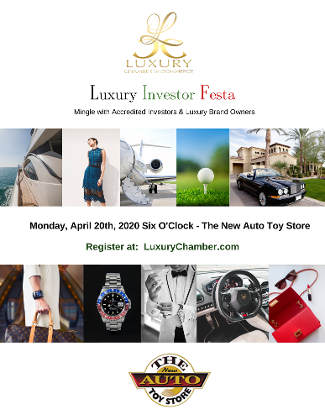 Luxury Investor Festa at The New Auto Toy Store, April 20th 2020