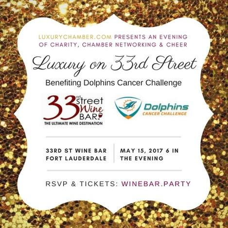 Luxury on 33rd Street 2017 - Benefiting Dolphins Cancer Challenge in Fort Lauderdale - Little Italy area (Galt Ocean Mile)