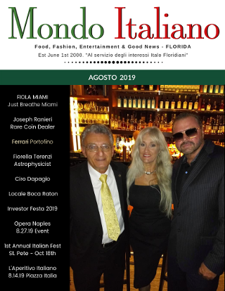 the mob king on mondo italiano magazine cover with fiorella terenzi and ciro dapagio joseph ranier of us rare coins and precious metals
