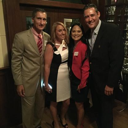 Left to right: Mark Nowak, Kolleen Poirier, Sartori and founder of the chamber Jay Shapiro