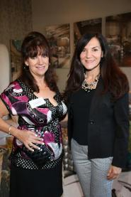Cynthia Silorey and Dawn Walsh at LuxuryChamber.com event with Perla Lichi