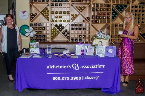 alzheimers association booth and luxury chamber of commerce beverly hills, sardina event 2019