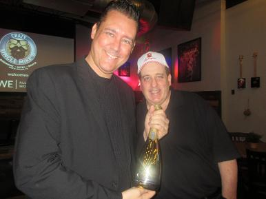 Jay Shapiro and Ron Goldberg the owner of Lamborghini Wines