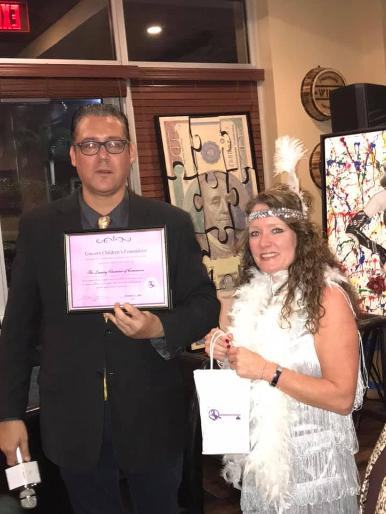 Jay Shapiro and CEO Sharon Alexander at a Luxury Chamber of Commerce and Unicorn Childrens Foundation Networking Event, Temper Grille in Boca Raton, FL