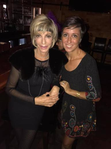 Luxury Realtor Marjorie Bernstein and friend at a Luxury Chamber of Commerce and Unicorn Childrens Foundation Networking Event, Temper Grille in Boca Raton, FL