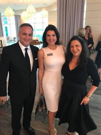 Peter Olstein, Honorable Judge Tarlika Navarro and Leah Olstein at Ritz Carlton Bal Harbour for South Florida Celebrity Fest 2019